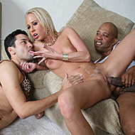 Carla Cox rides black monster cock in front of her cuckold from Cuckold Sessions
