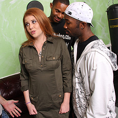 redhead gets gangbanged by blacks in front of her cuckold from Cuckold Sessions