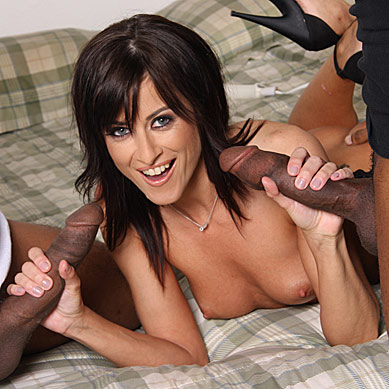 Cecilia Vega does anal with blacks in front of a lame cuckold from Cuckold Sessions