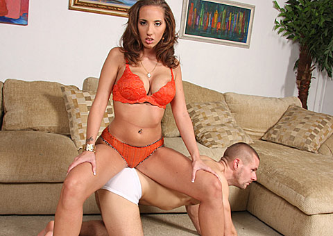Brunette Kelly Divine sucking and fucking while cuckold watches from Cuckold Sessions