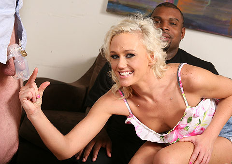 Nice Titted Molly Rae goes black in front of her hubby from Cuckold Sessions
