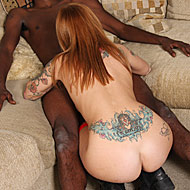 Scarlett Pain gets gangbanged by blacks in front of a cuckold from Cuckold Sessions