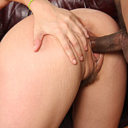 hung blacks sharing a busty brunette in front of her husband from Cuckold Sessions