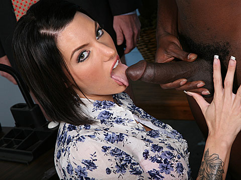 2 Julez Ventura goes black in front of a small dicked cuckold