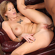 busty blonde Tricia Oaks gets gangbanged by three black studs from Cuckolds
